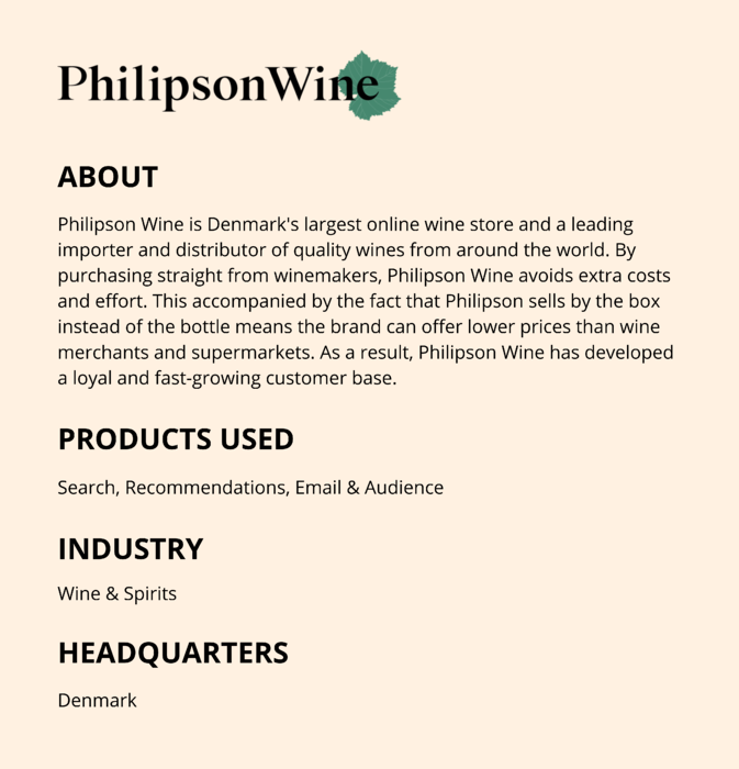 About Philipson Wine