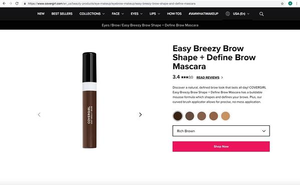 Covergirl review form accessible