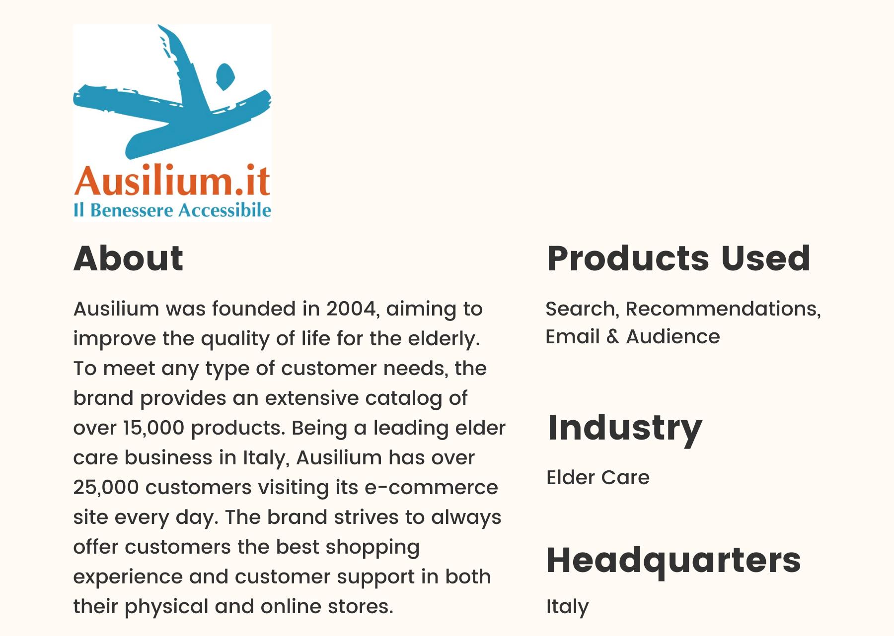 Customer Story Ausilium