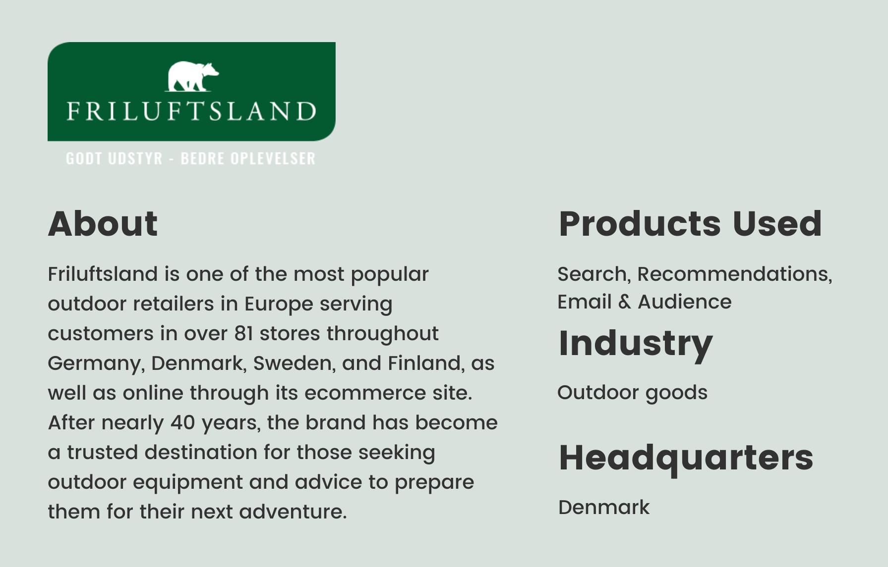 Friluftsland brand bio