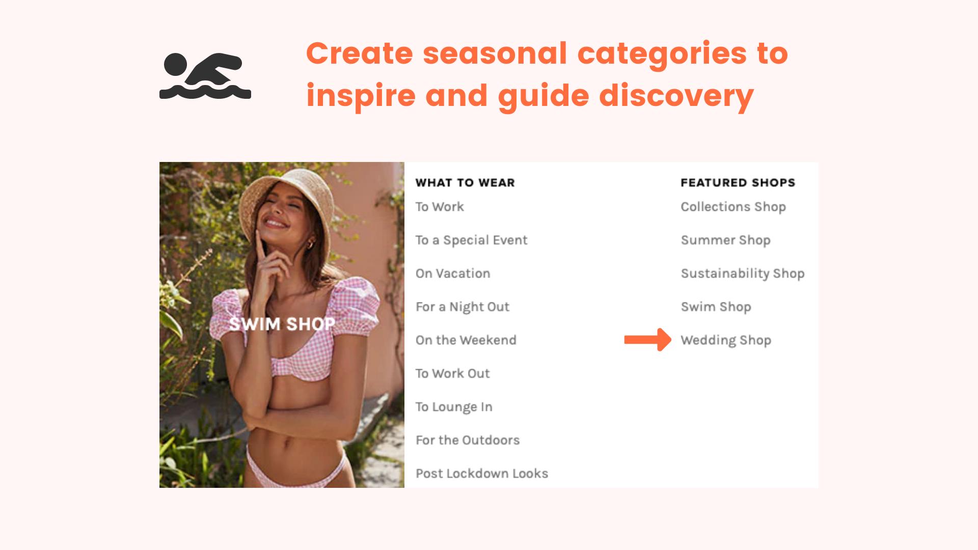 Seasonal categories for site navigation