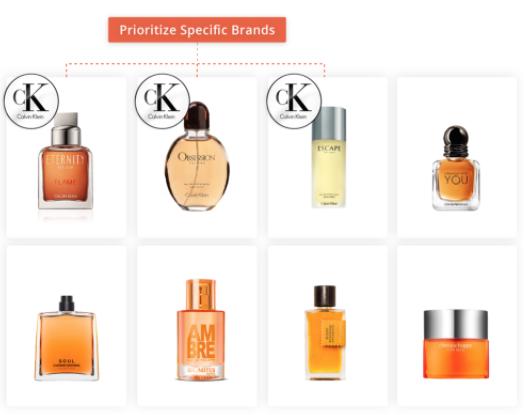 Prioritizing specific vendors/brands