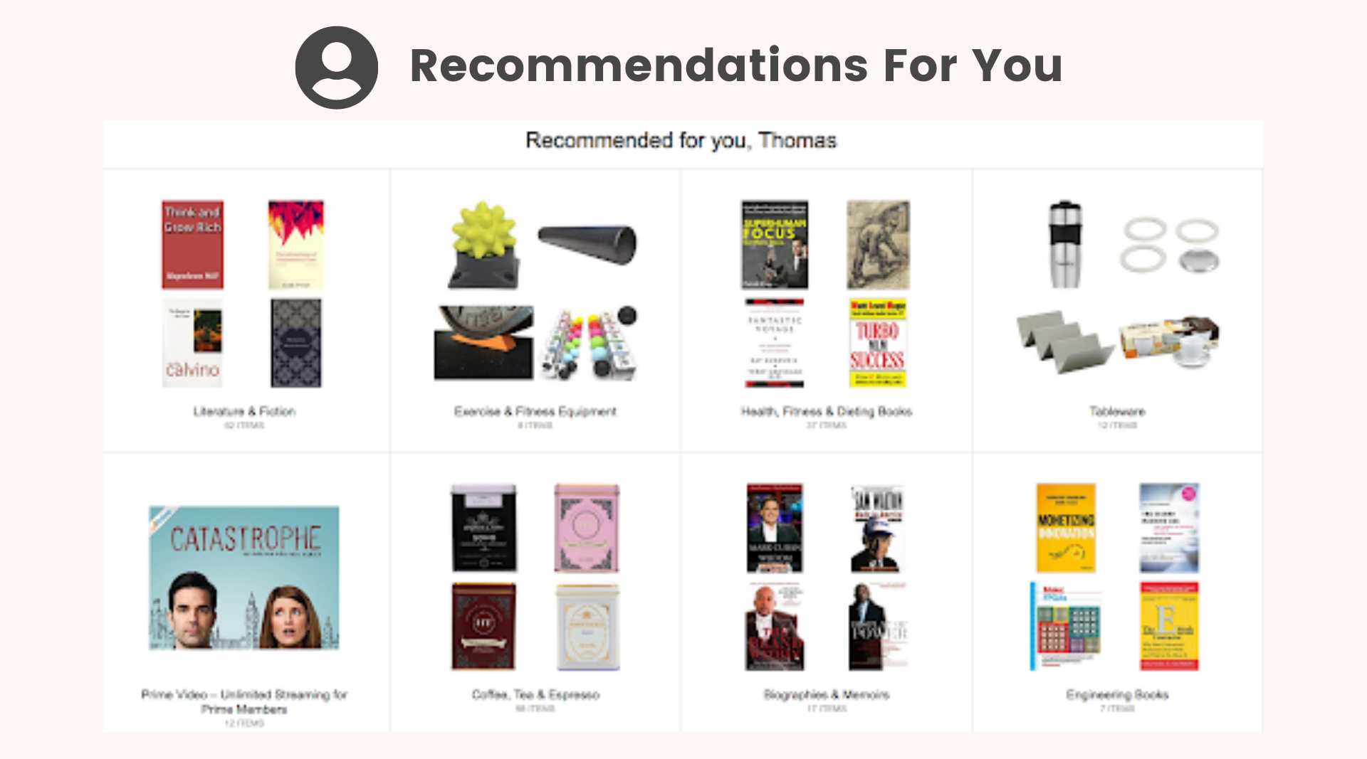 Amazon recommendations for you