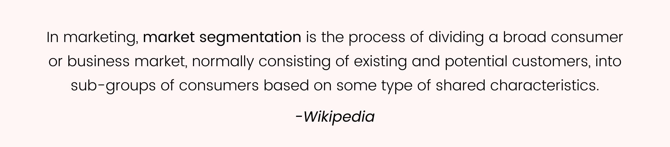 Wikipedia segmentation