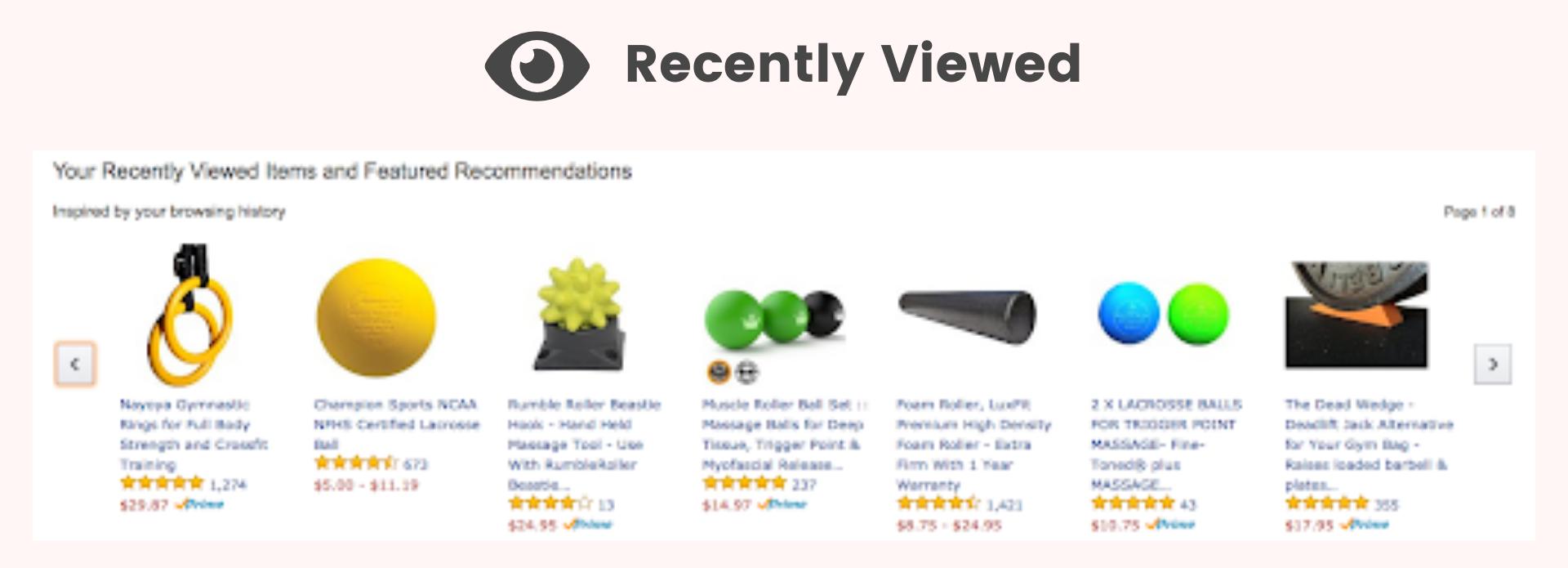 Amazon recently viewed