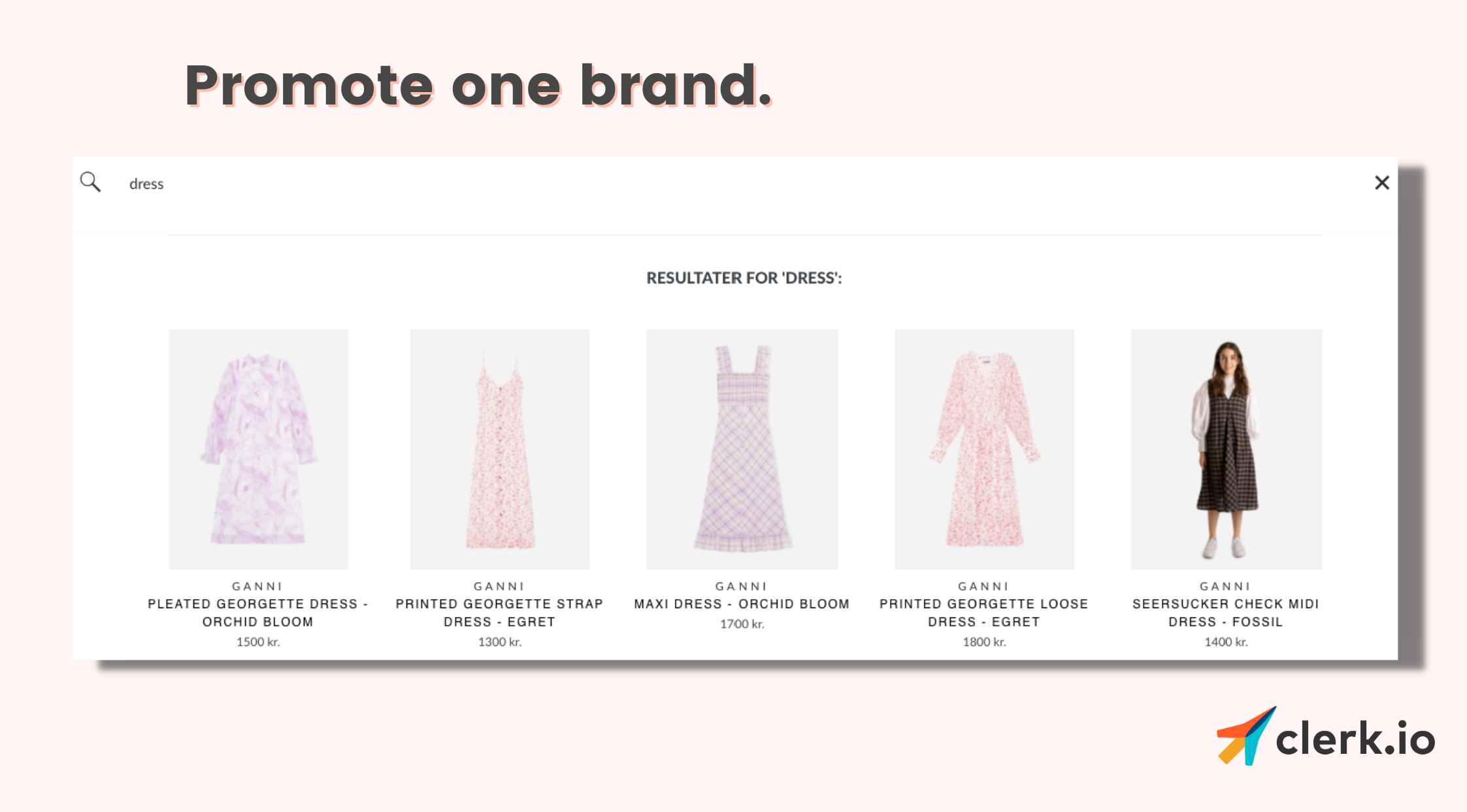 merchandising: promote one brand