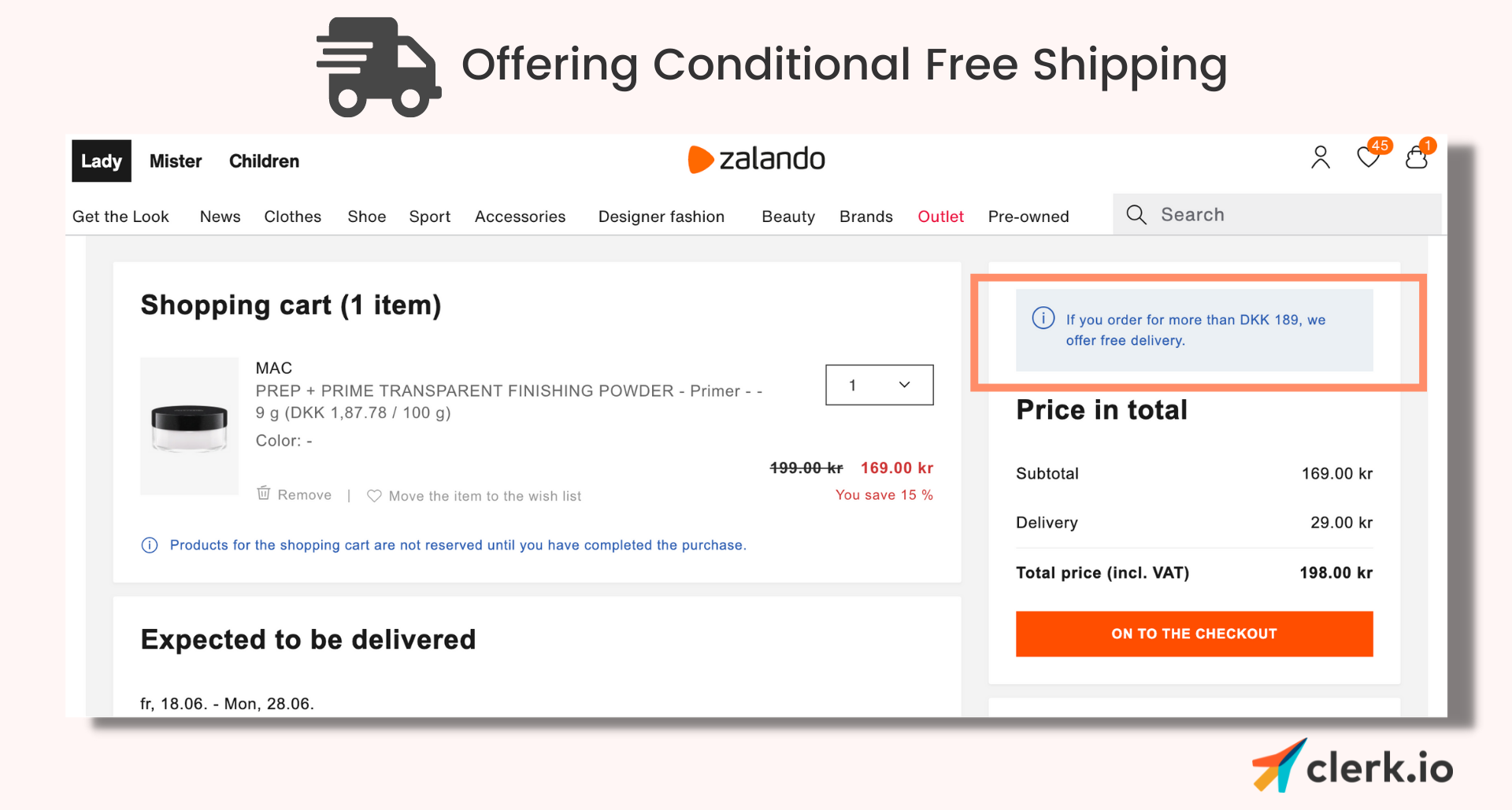 zalando free shipping