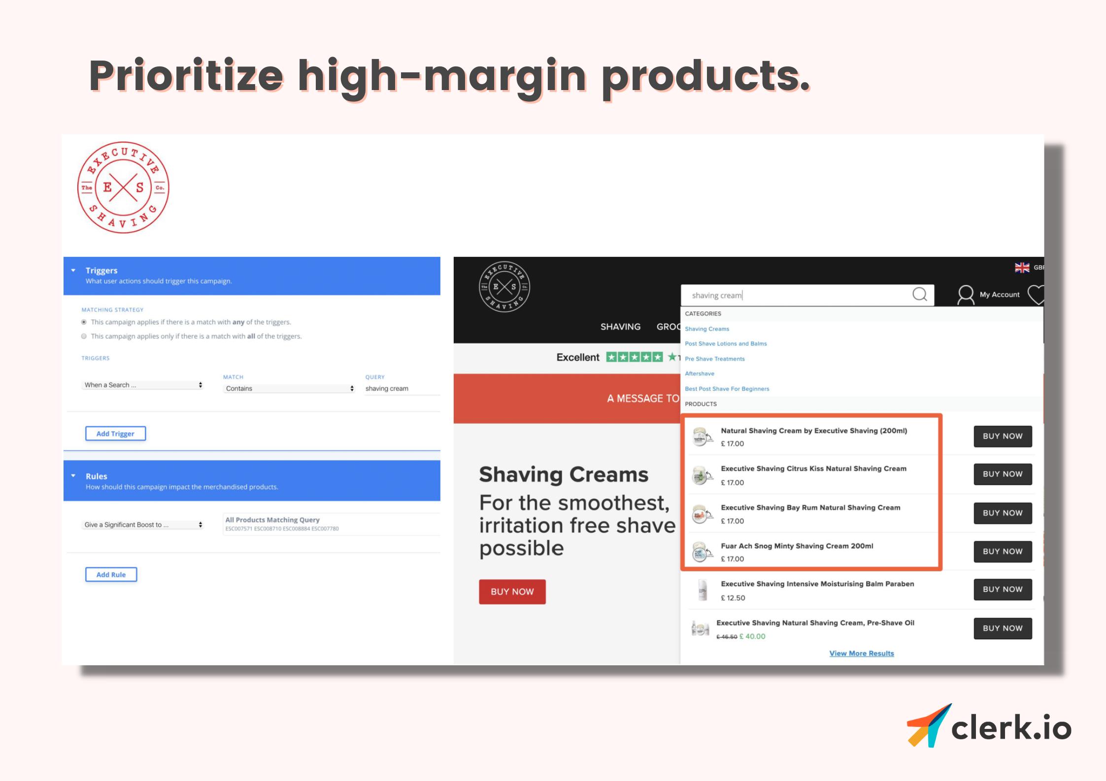 merchandising: high-margin products